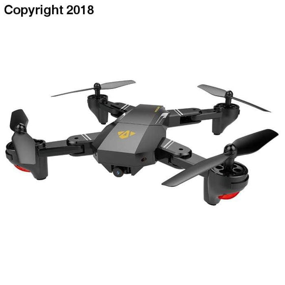 XS809 2.4GHz 4CH 6-axis Gyro Pocket Mini Selfie Foldable Drone RC Drone Quadcopter WiFi FPV 0.3 MP Camera Altitude Hold RTF - future-rockets