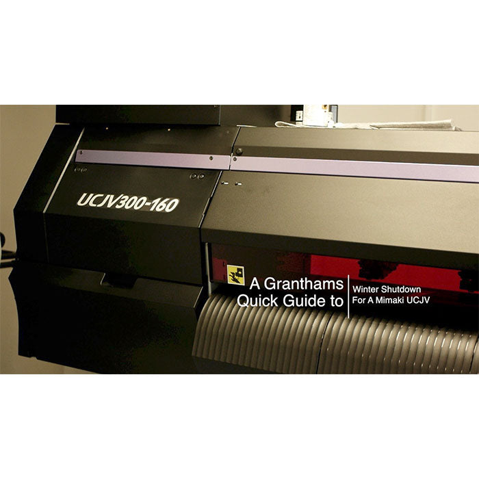 Mimaki UCJV Winter Clean Shutdown