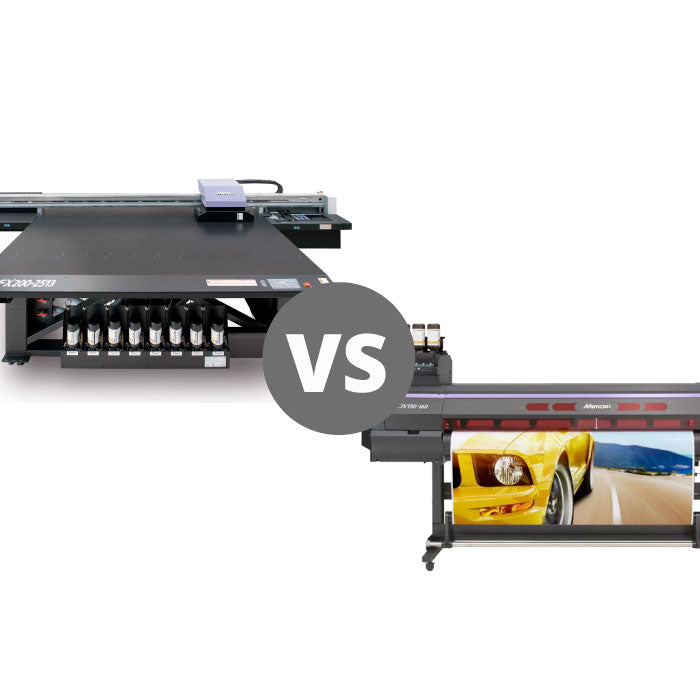 Flatbed vs rollfed UV printers