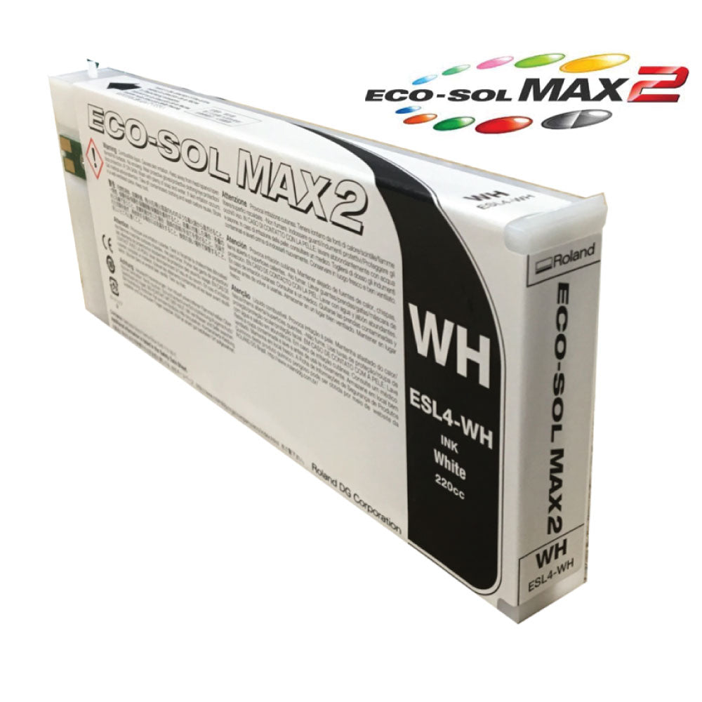 Roland Eco-Sol MAX 2 ESL4 White Ink (220ml cartridge)