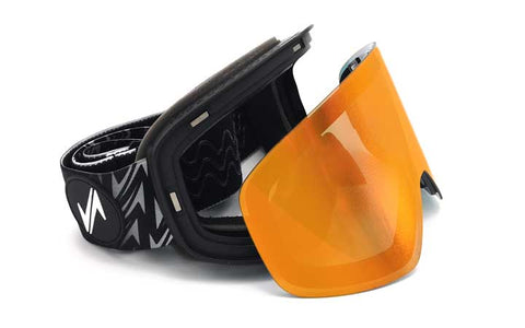 Snow goggle with magnetic exchangeable lenses