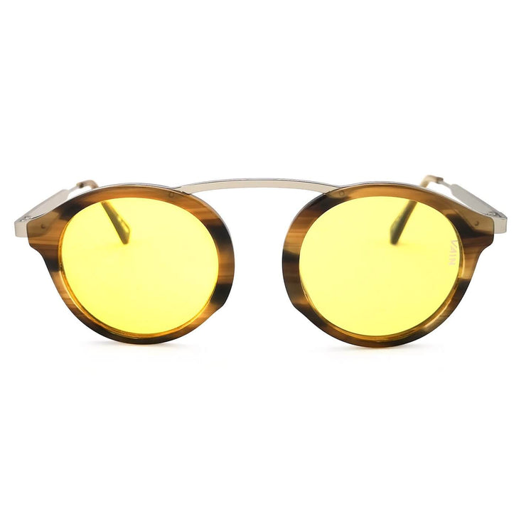 Nerd sunglasses with yellow lens