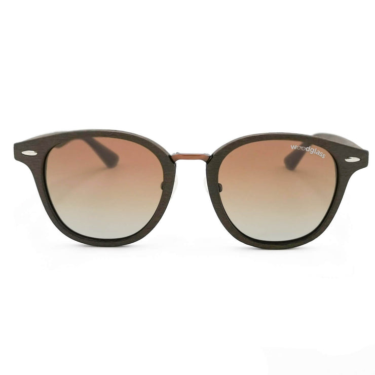 Cape wood immitation sunglasses wooden look dark oak log woodglass from VAIN sunglasses gradient brown lens CE3 UV400