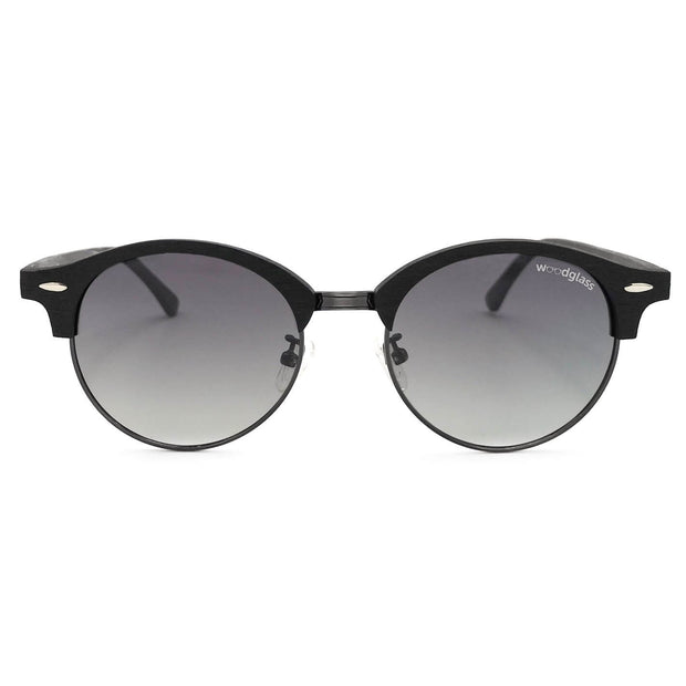 Wooden clubmaster sunglasses