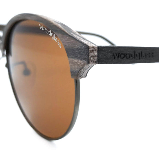 wooden round clubmaster sunglasses