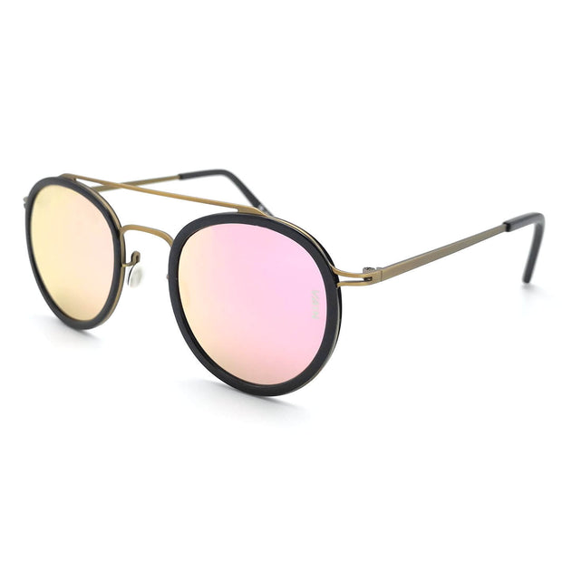 Aviator & Round style sunglasses form VAIN with rose gold mirror lenses
