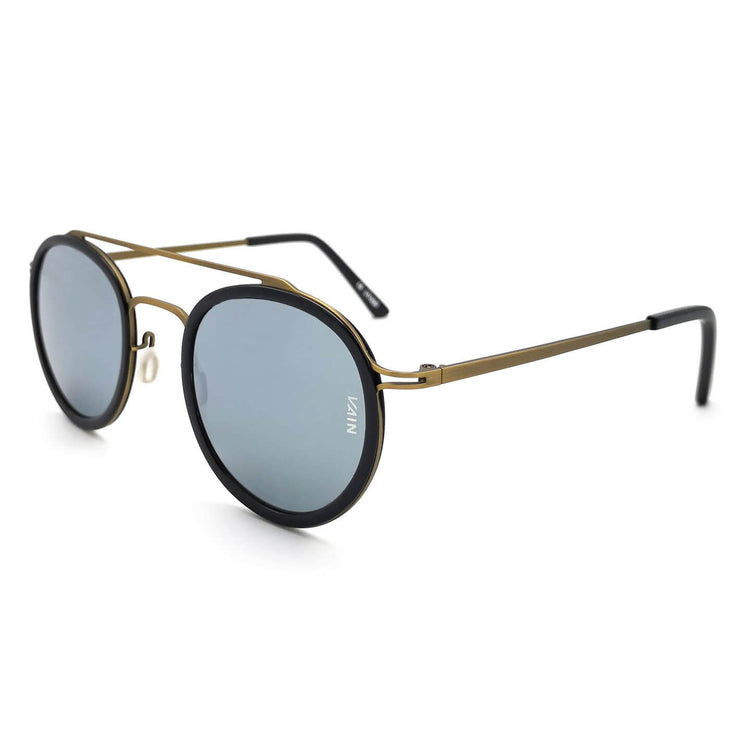 Silver mirror sunglasses in aviator & round style from VAIN sunglasses