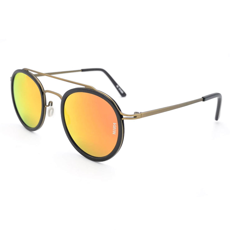 London Aviator & Round style sunglasses form VAIN with sunset orange mirror lenses (UV400, CE3 & Polarized)