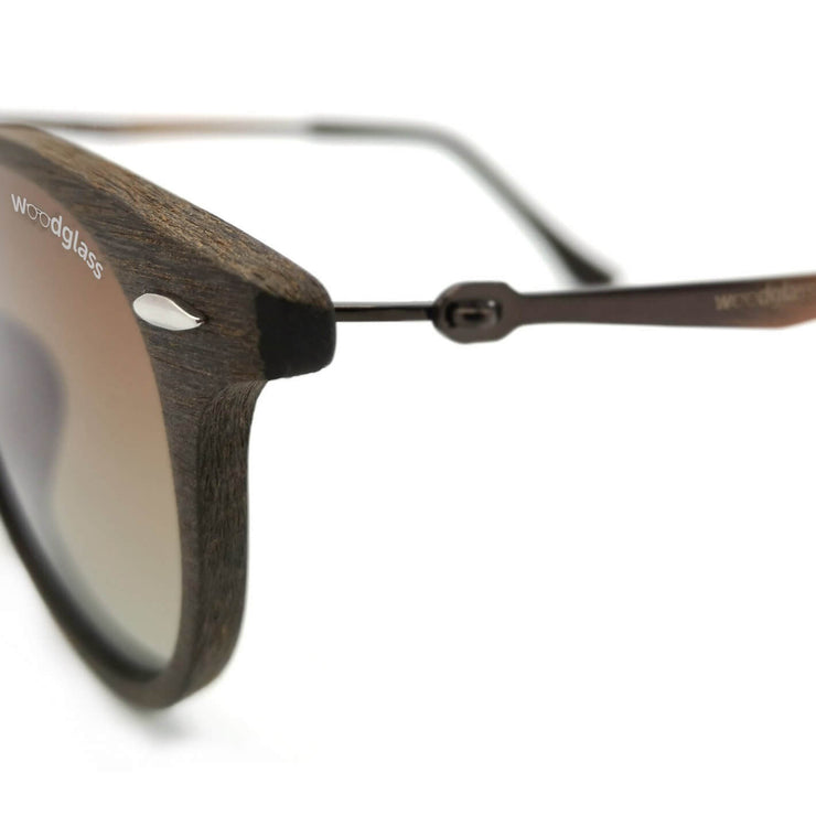 Wooden wayfarer sunglasses