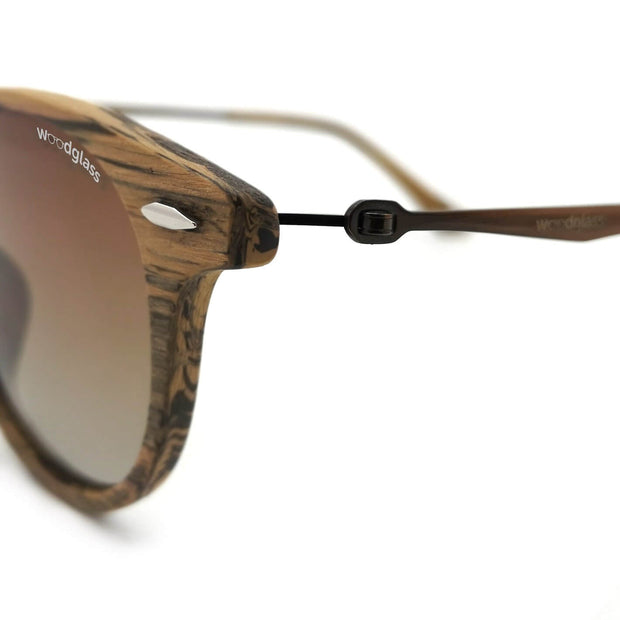 Wooden detail on sunglasses