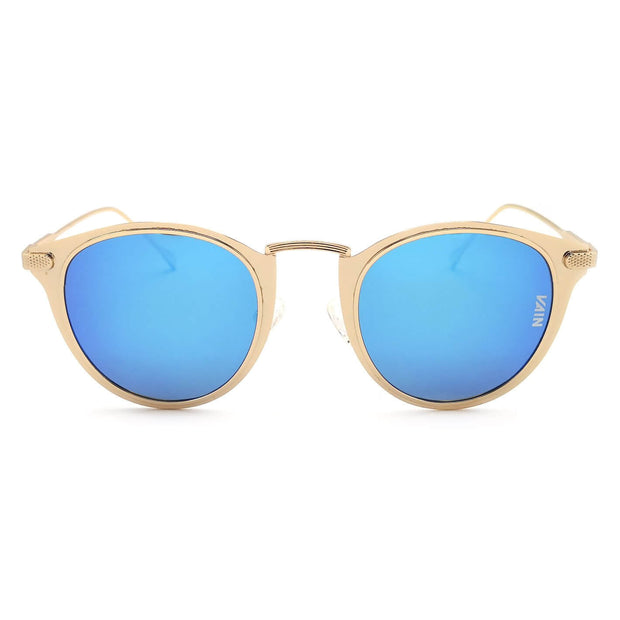 blue and gold sunglasses