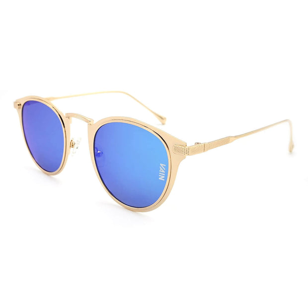 Mexico cat style sunglasses from VAIN The Netherlands, ice blue mirror lens UV400 CE3