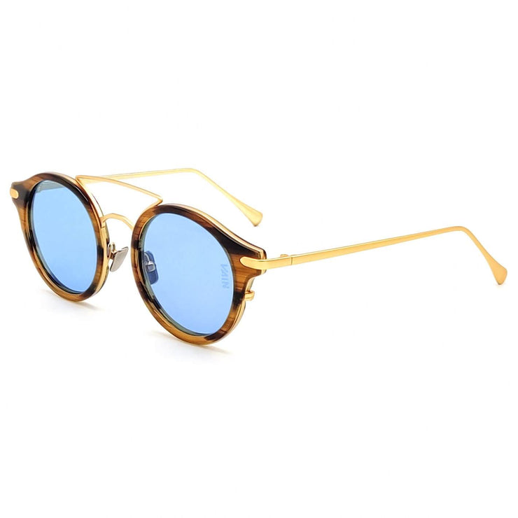 Striped blue aviator sunglasses