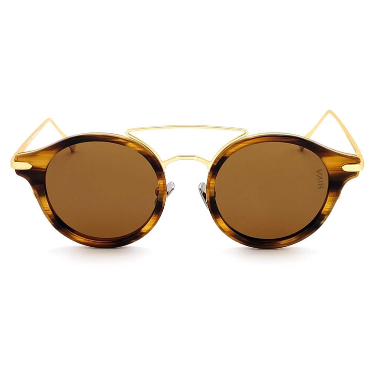 Brown and gold sunglasses