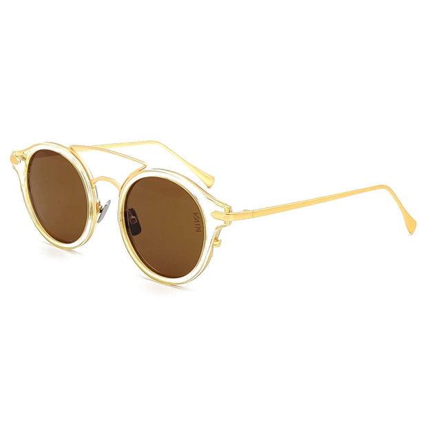 Brown lens round sunglasses
