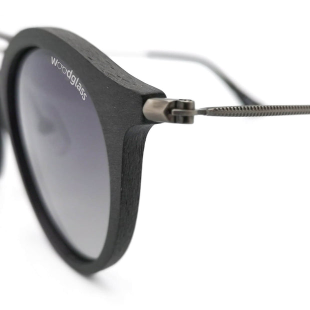 charcoal wooden immitation sunglasses