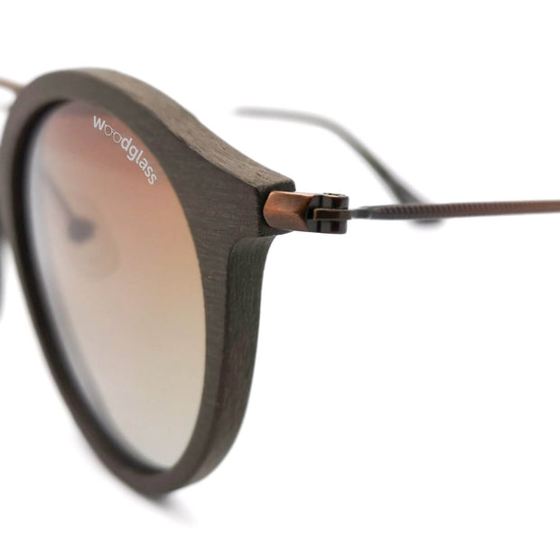 Sierra dark oak style wooden immitation sunglasses made out of bio based acetate