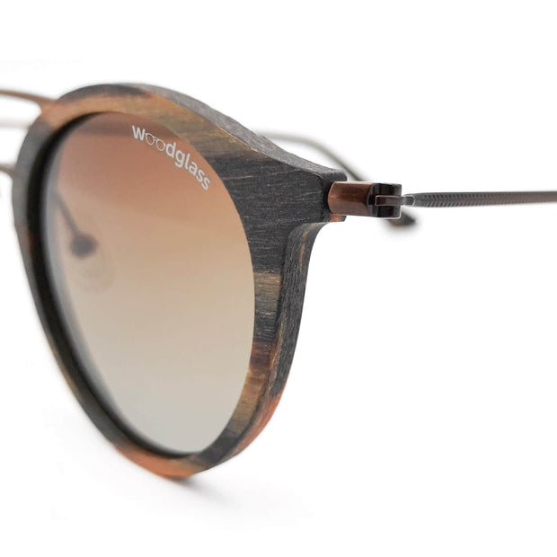 Wooden round style sunglasses
