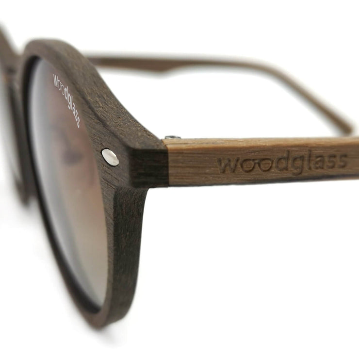 Dark oak wayfarer sunglasses