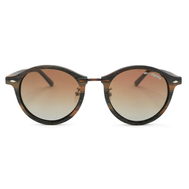 Dark oak wooden sunglasses
