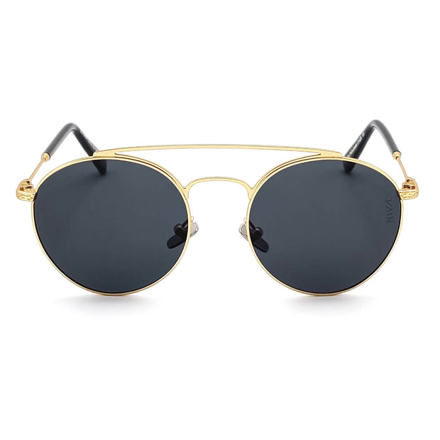Dallas aviator style sunglasses for cowboys VAIN fashion sunglasses with grey lens and gold looking metal frame