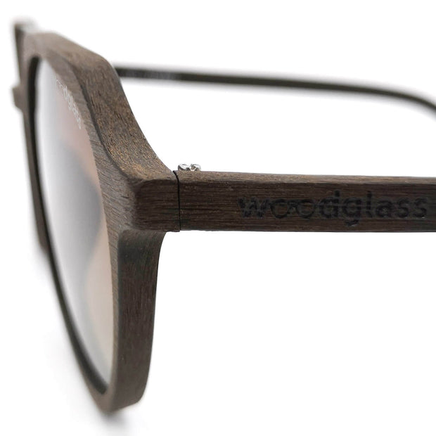 Dark wooden sunglasses