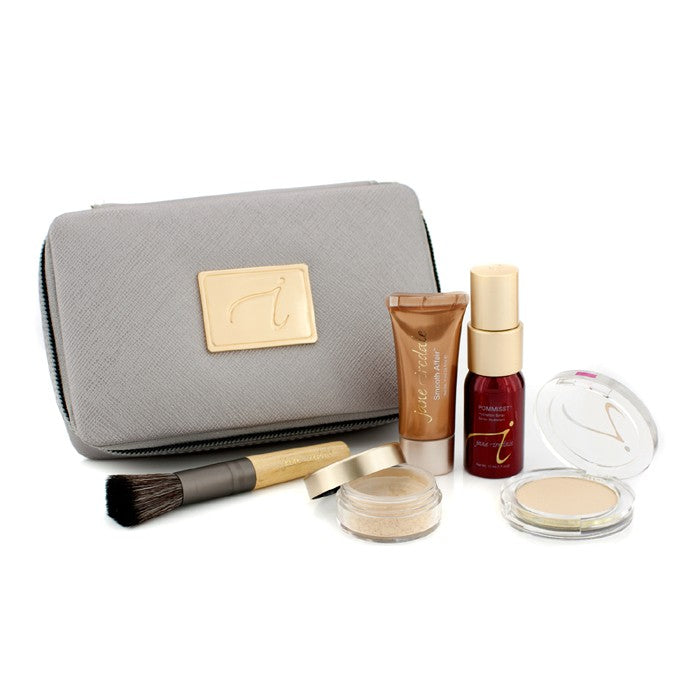 Starter Kit (6 Pieces): 1x Primer & Brighter, 1x Loose Mineral Powder, 1x Mineral Foundation, ... # Light 169679