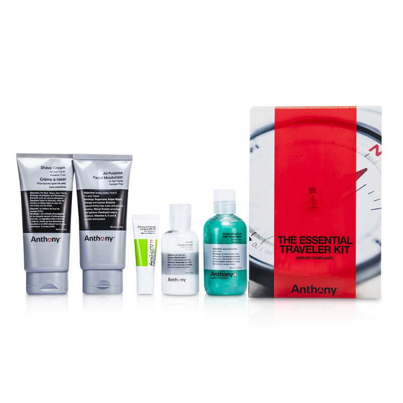 Logistics For Men The Essential Traveler Kit: Cleanser + Mositurizer + Lip Blam + Shave Cream + Hair & Body Wash 178402