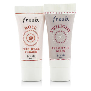Prime & Glow Set: 1x Mini Rose Freshface Primer, 1x Mini Twilight Freshface Glow