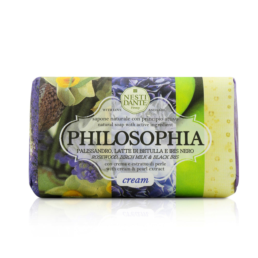 Load image into Gallery viewer, Philosophia Natural Soap   Cream   Rosewood, Birch Milk & Black Iris With Cream & Pearl Extract