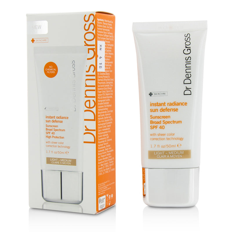 Instant Radiance Sun Defense Sunscreen Spf 40 Light Medium 208761