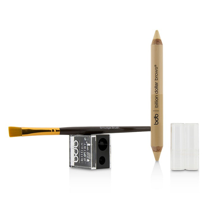 60 Seconds To Contoured Brows Kit (1x Brow Duo Pencil, 1x Smudge Brush, 1x Duo Sharpener)