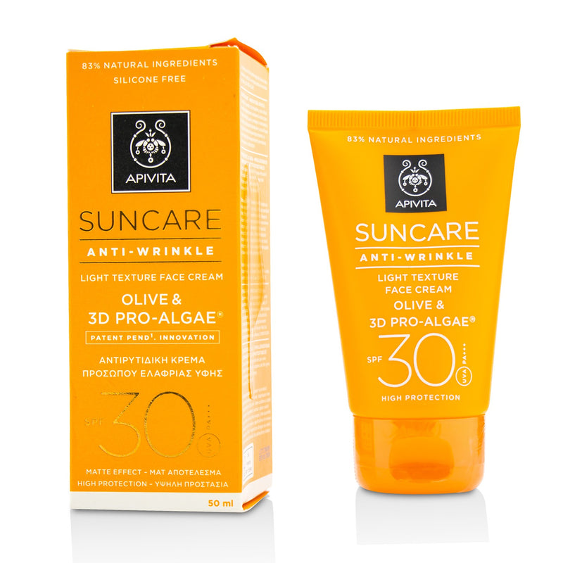 Suncare Anti Wrinkle Light Texture Face Cream Spf 30 214224