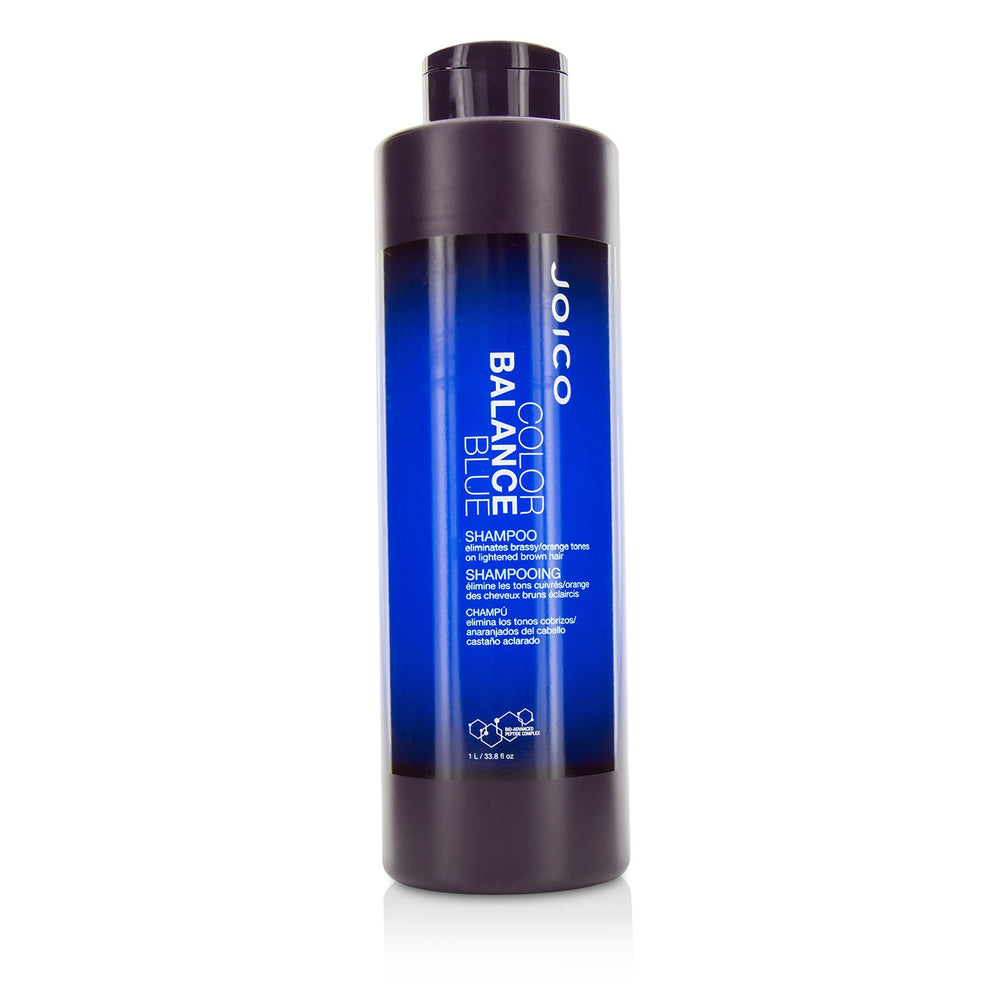 Color Balance Blue Shampoo (Eliminates Brassy/Orange Tones On Lightened Brown Hair)