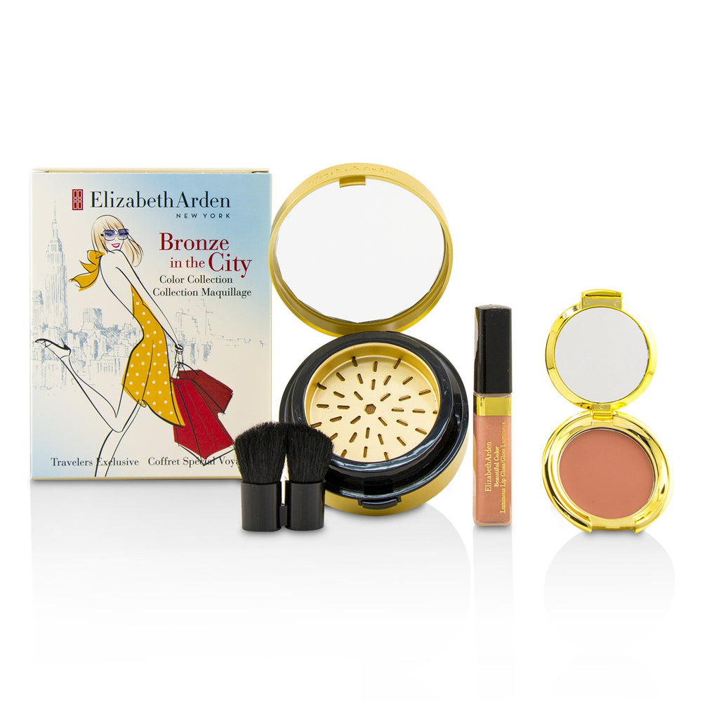Bronze In The City Color Collection (1 X Bronzing Powder, 1 X Blush, 1 X Lip Gloss, 1 X Brush) 220083