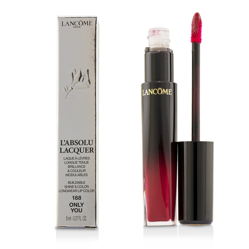 L'absolu Lacquer Buildable Shine & Color Longwear Lip Color