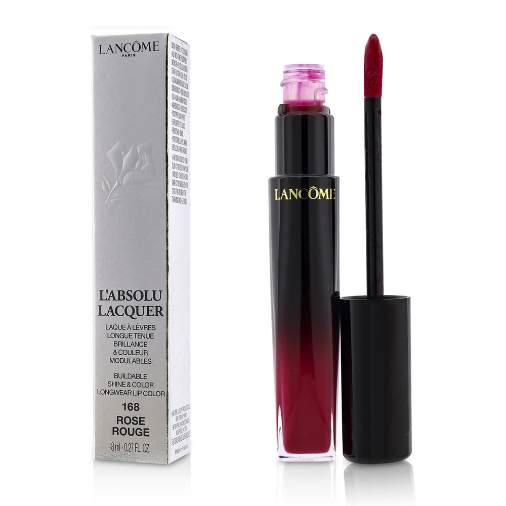 Load image into Gallery viewer, L'absolu Lacquer Buildable Shine & Color Longwear Lip Color # 168 Rose Rouge 221419