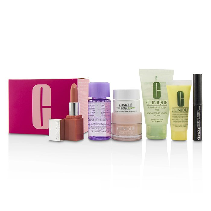 Travel Set: M/U Remover 30ml+Facial Soup 30ml+Moisture Surge 15ml+Ddml 15ml+Moisture Cream 7ml+Mascara 2.5ml+Lip Color 2.3g 222841