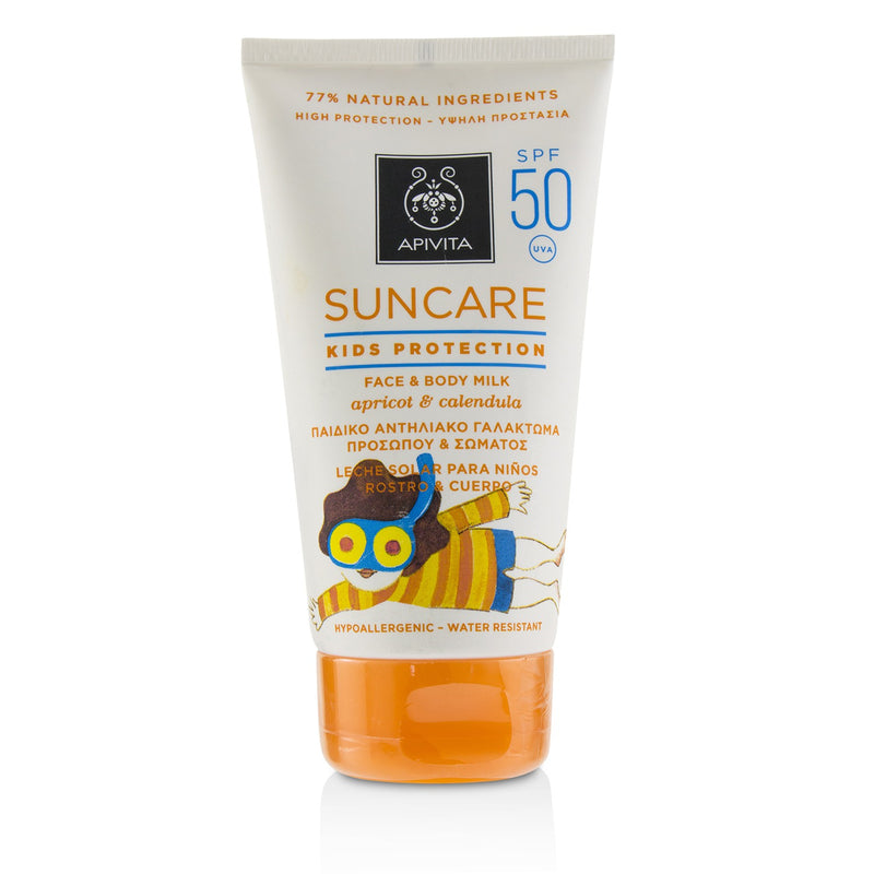 Suncare Kids Protection Face & Body Milk Spf 50 With Apricot & Calendula 223213