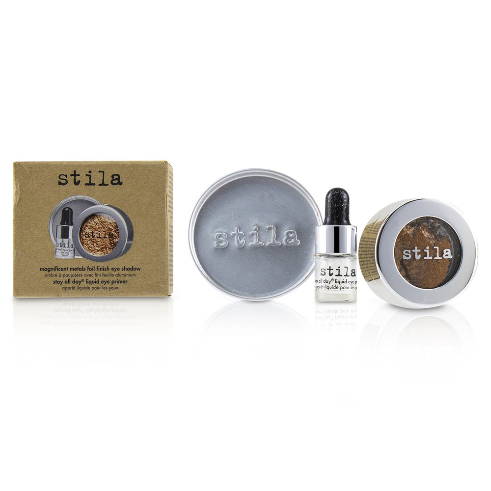 Magnificent Metals Foil Finish Eye Shadow With Mini Stay All Day Liquid Eye Primer   Comex Copper