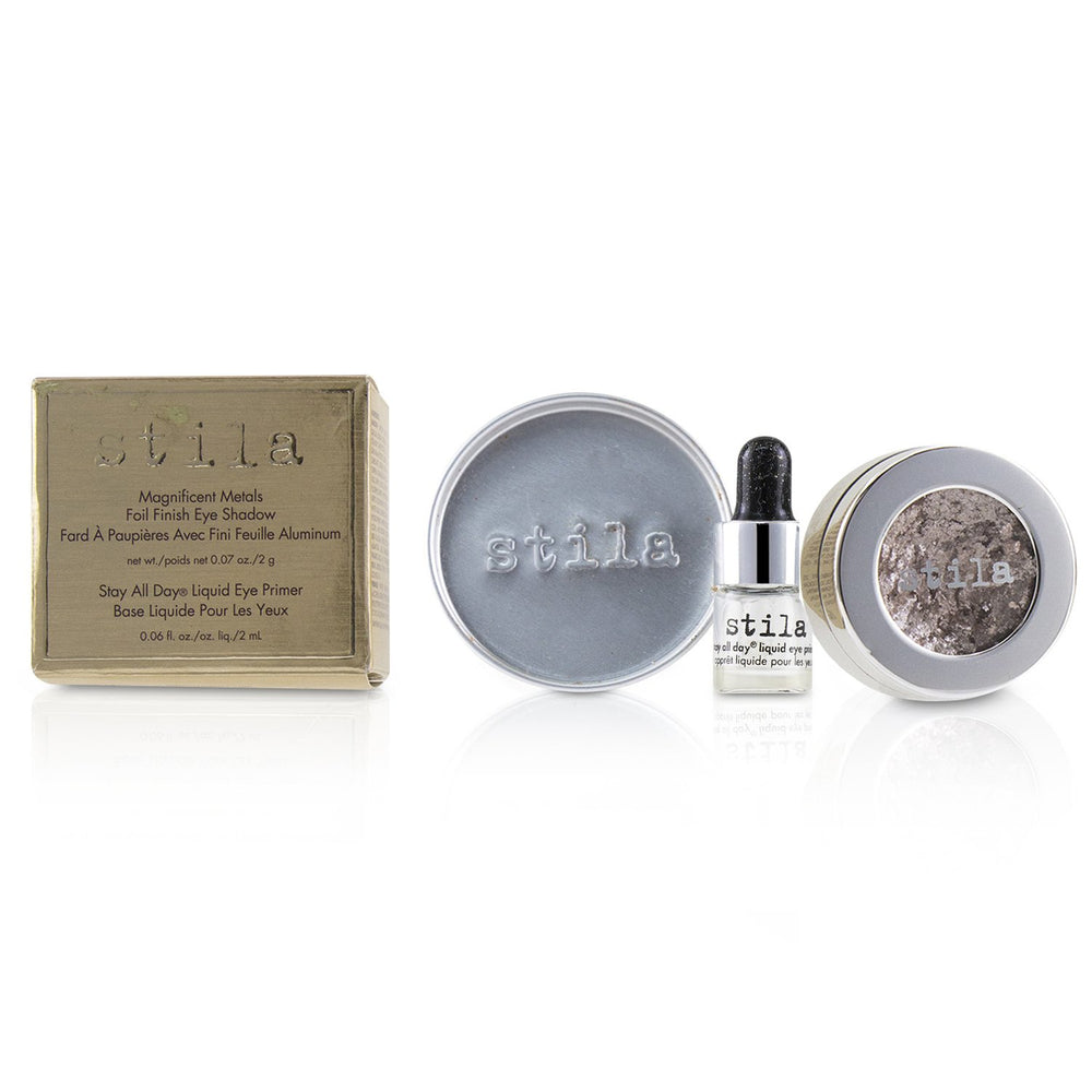 Magnificent Metals Foil Finish Eye Shadow With Mini Stay All Day Liquid Eye Primer - Metallic Dusty Rose - Stila - Frenshmo