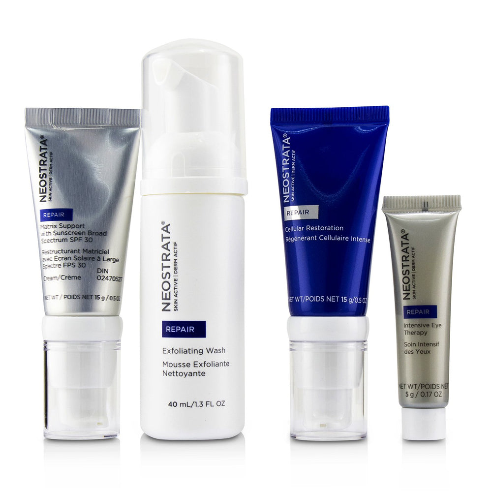 Skin Active Derm Actif Repair Comprehensive Antiaging System: Exfoliating Wash + Cellular Restoration + Matrix Support Spf 30 + Intensive Eye Therapy 239807