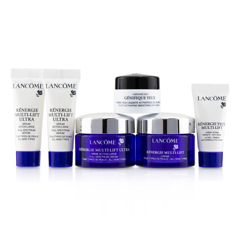 Renergie Travel Set: Redifining Lifting Cream + Full Spectrum Cream + Full Spectrum Serum + Firming Eye Cream + Genifique Eye Cream + Bag 240005