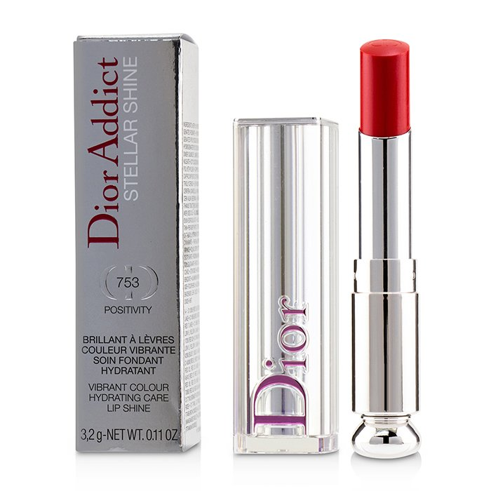 Load image into Gallery viewer, Dior Addict Stellar Shine Lipstick   # 753 Positivity (Vibrant Red)