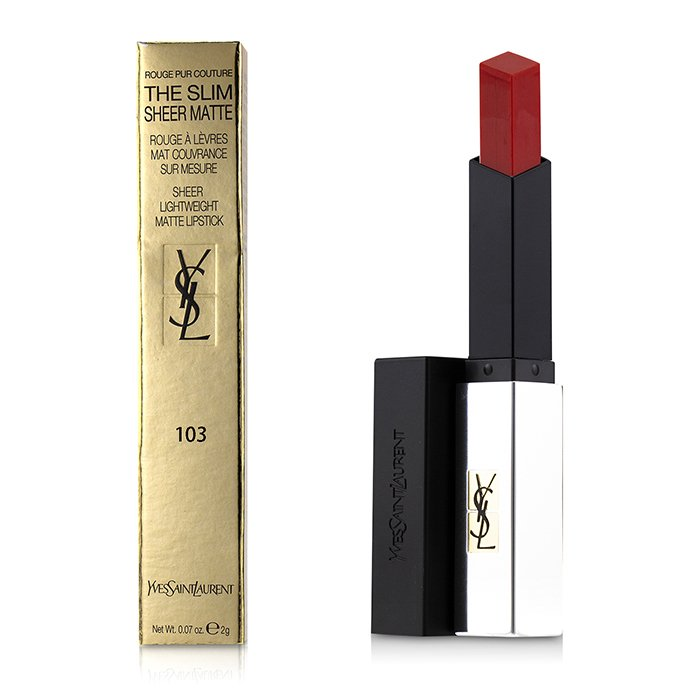 Rouge Pur Couture The Slim Sheer Matte Lipstick # 103 Orange Provocant 242591