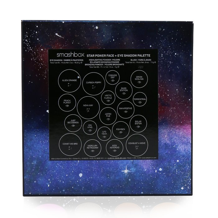 Cosmic Celebration Star Power Face + Eye Shadow Palette (3x Blush +1x Highlighting Powder + 1x Bronzing Powder +15x Eye Shadow)