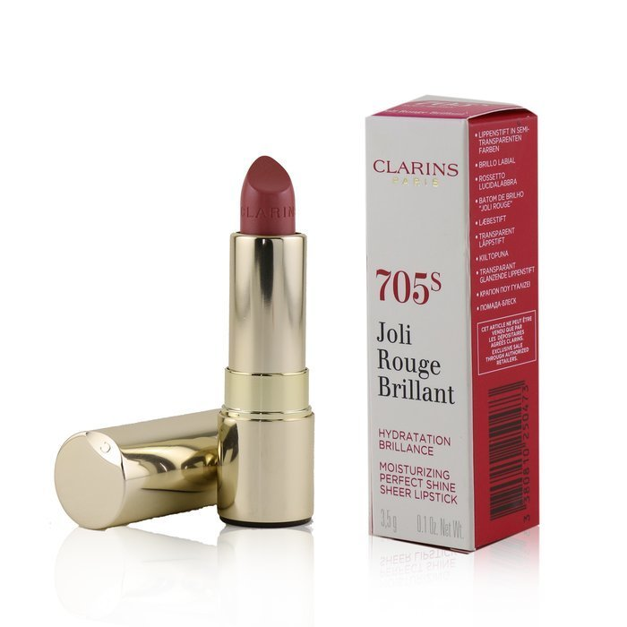 Joli Rouge Brillant (Moisturizing Perfect Shine Sheer Lipstick)   # 705 S Soft Berry
