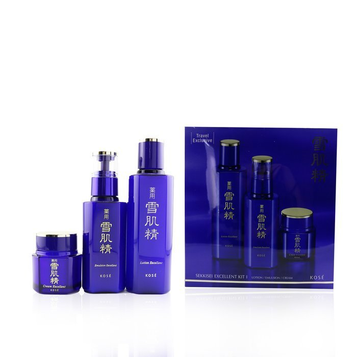 Load image into Gallery viewer, Sekkisei Excellent Kit I: Lotion Excellent 200ml + Emulsion Excellent 140ml + Cream Excellent 50g 245366