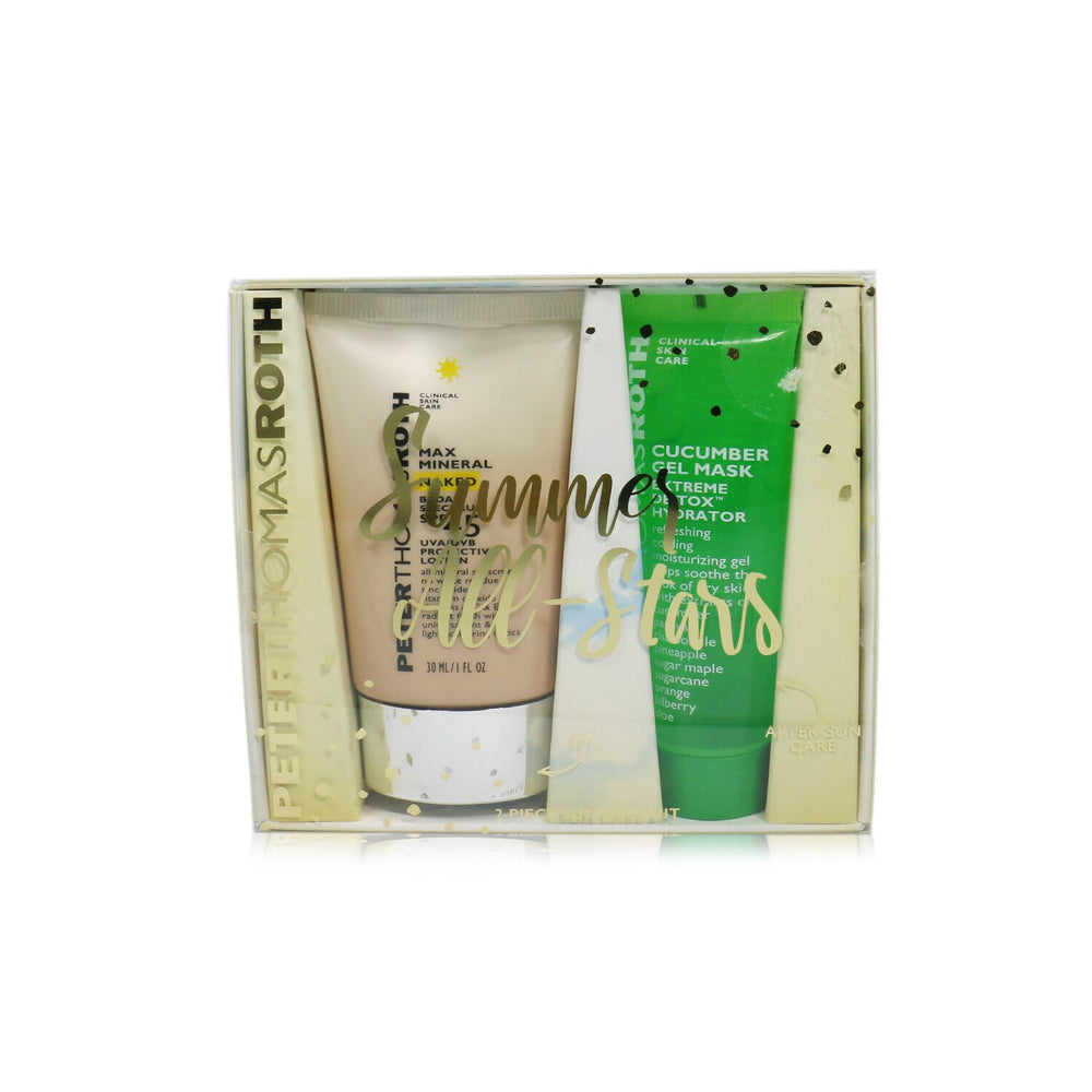 Summer All Stars 2 Piece Sun Care Kit: Max Mineral Naked Spf 45 Protective Lotion 30ml. Cucumber Gel Mask 30ml 245939
