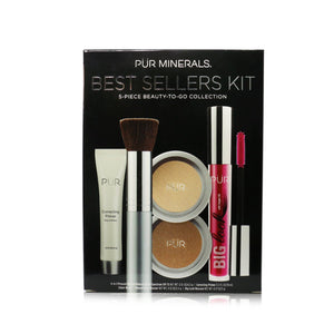 Best Sellers Kit (5 Piece Beauty To Go Collection) (1x Primer, 1x Powder, 1x Bronzer, 1x Mascara, 1x Brush) # Golden Medium 246519
